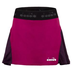 Women`s Tennis Skirt in Violet Boysenberry
