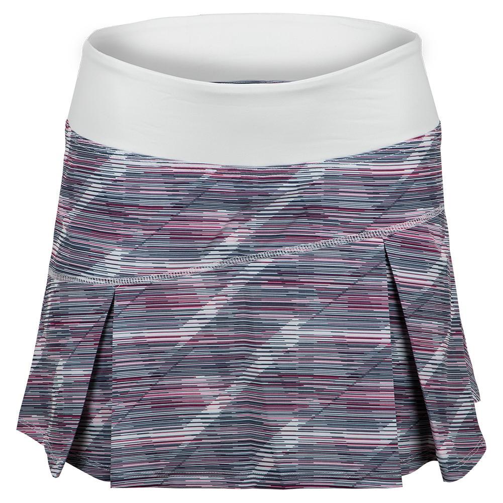 Women's Topspin Tennis Skort White Prism Print