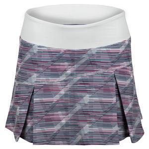 Women`s Topspin Tennis Skort White Prism Print