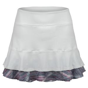 Women`s Centre Point Tennis Skort White and Prism Print