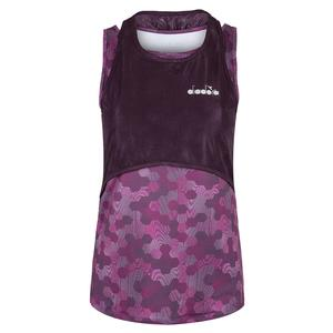 Women`s R. Fit Tennis Tank in Plum Perfect and Boysenberry