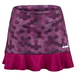 Women`s Easy Tennis Skort In Plum Perfect and Boysenberry