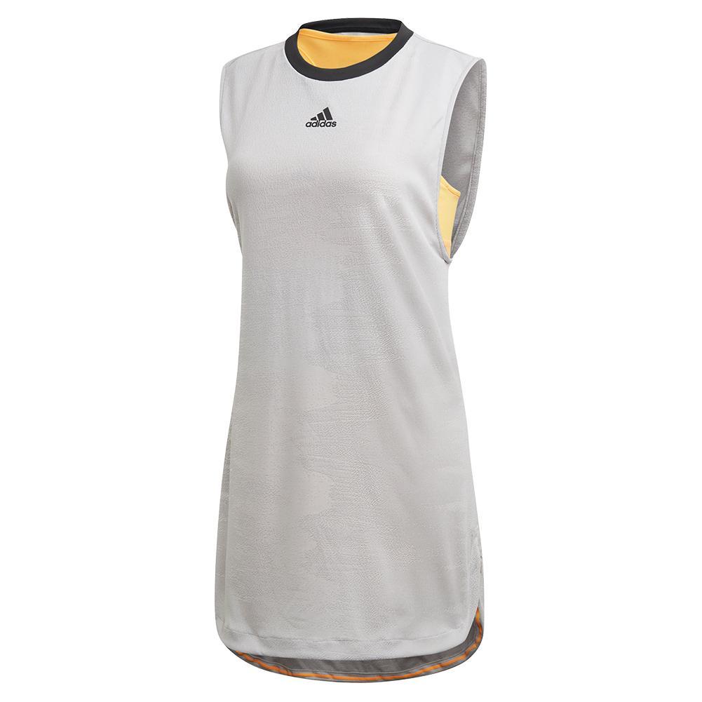 Women's Ny Tennis Dress Grey Three And Flash Orange