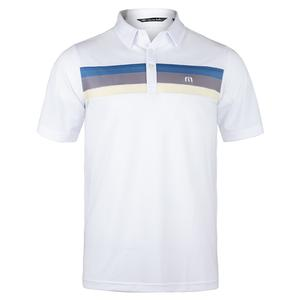 Men`s Oh Life Tennis Polo White