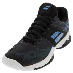 Men`s Propulse Fury All Court Tennis Shoes Black and Parisian Blue