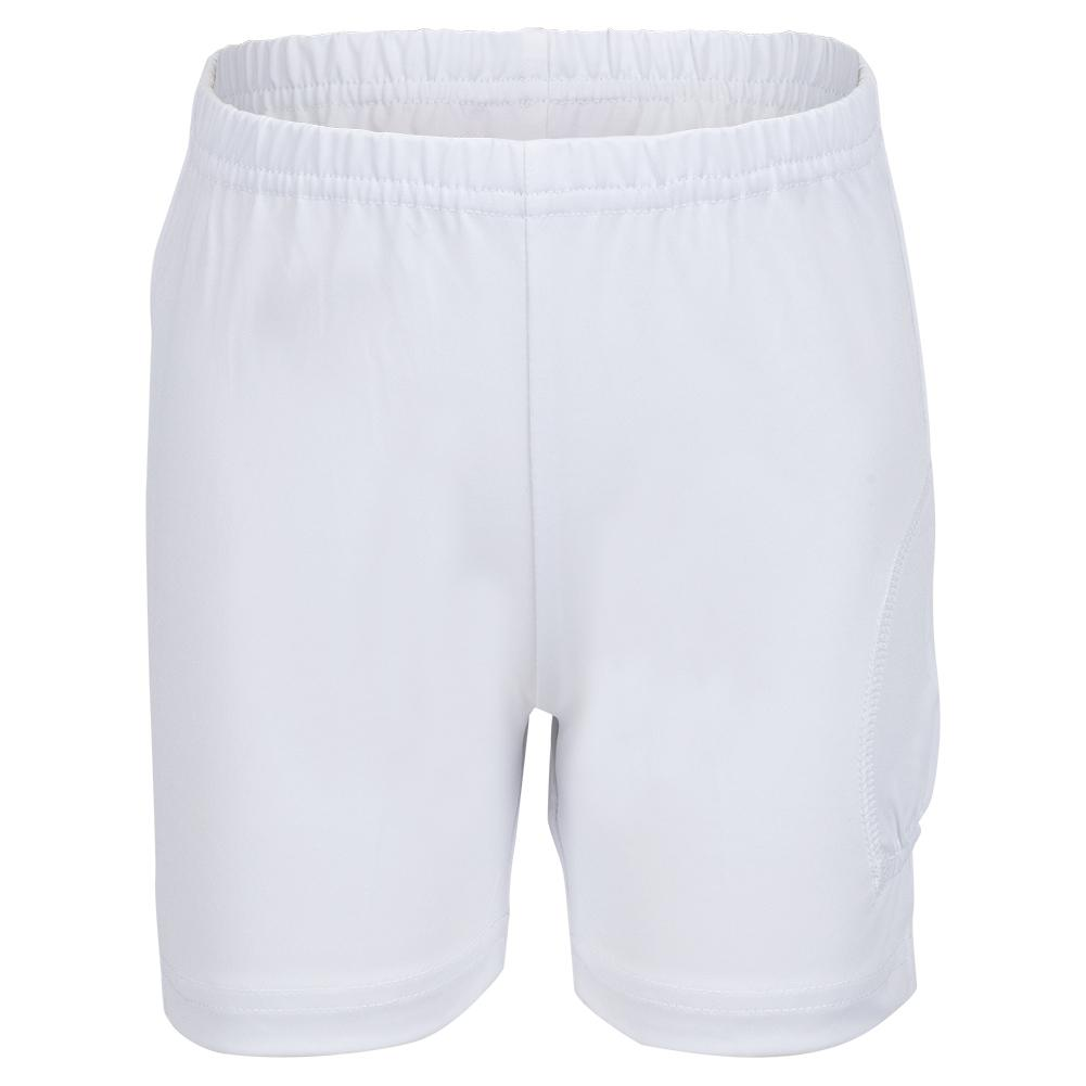 Girls ` Tennis Shorty With Ball Pocket White