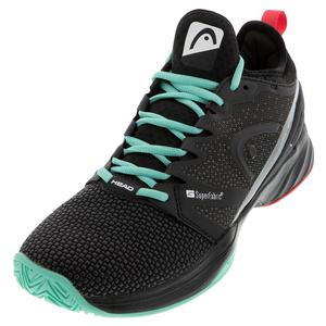 Men`s Sprint SF Tennis Shoes Black and Teal