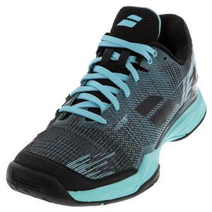 Women`s Jet Mach II All Court Tennis Shoes Angel Blue and Black