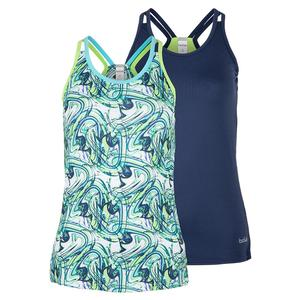 Women`s Tropical Twist Racerback Tennis Tank