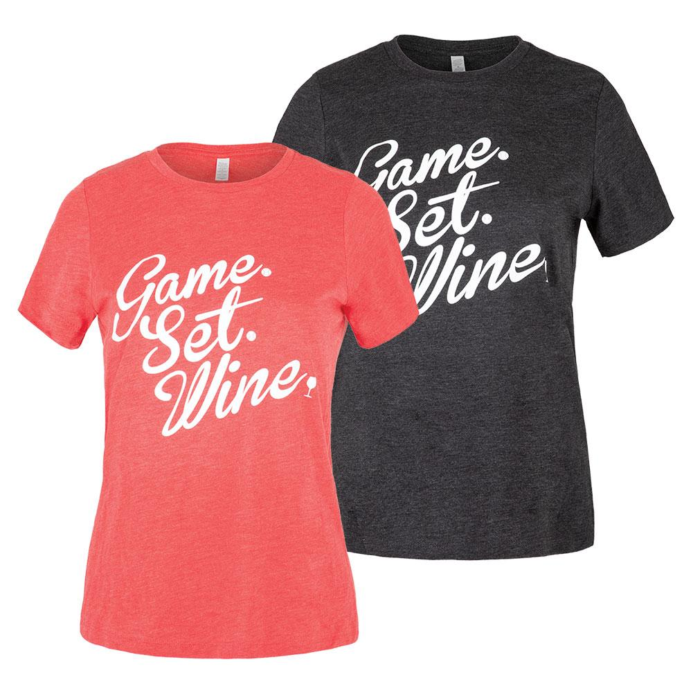 Women's Game Set Wine Tennis Top