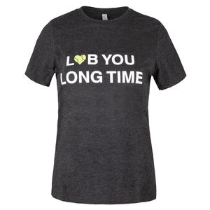 Women`s Lob You Long Time Tennis Top Charcoal Black Heather