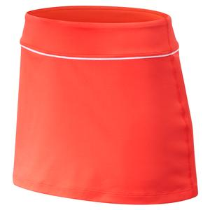 Women`s Rally Court 13 Inch Tennis Skort Coral Glow