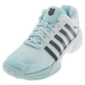 Women`s Hypercourt Express Tennis Shoes Pastel Blue and Black