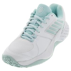 Women`s Aero Court Tennis Shoes Pastel Blue and White