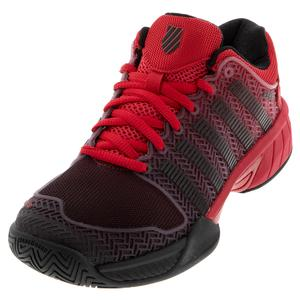 Juniors` Hypercourt Express Tennis Shoes Lollipop and Black