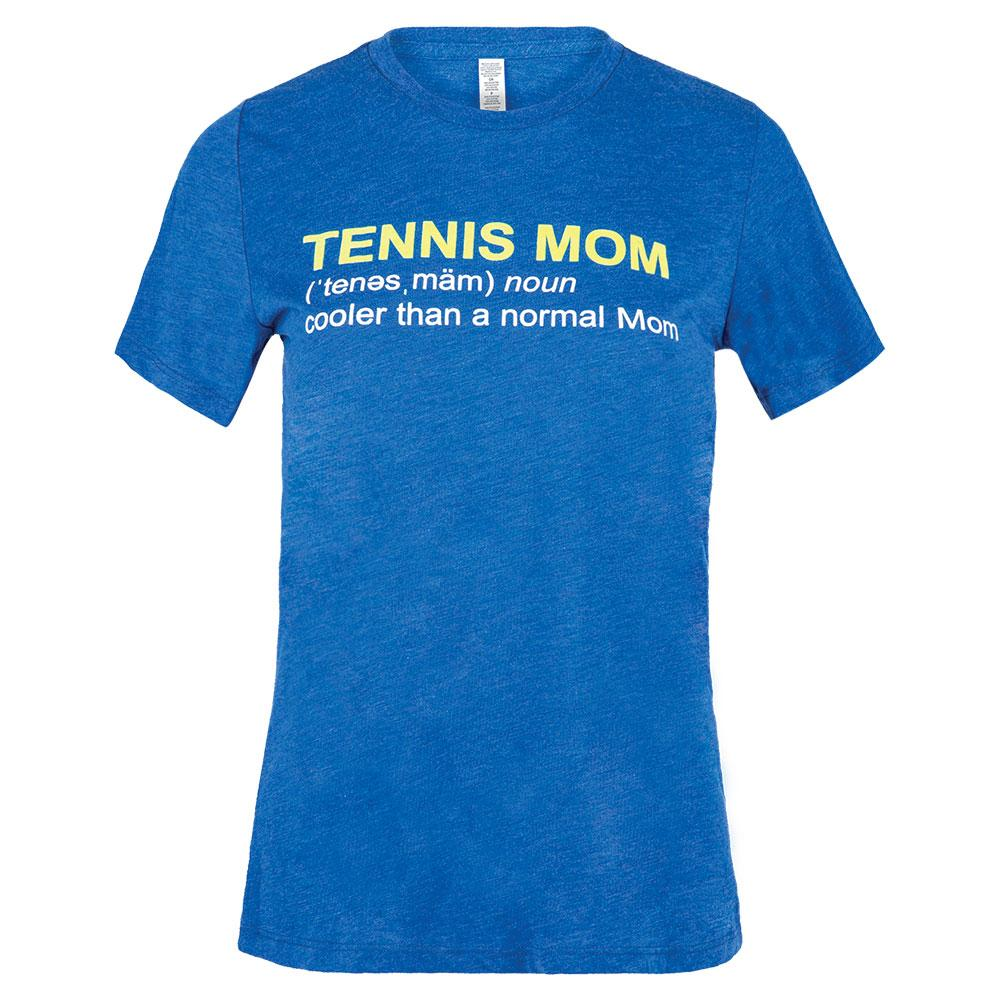 Women's Tennis Mom Top Royal Heather