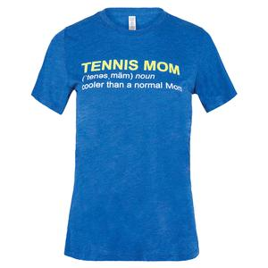 Women`s Tennis Mom Top Royal Heather