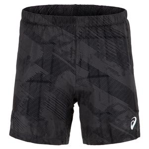 Men`s Club Graphic Tennis Shorts Graphite Grey and Performance Black