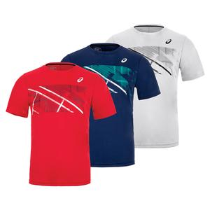 Men`s Practice Graphic Short Sleeve Tennis Top