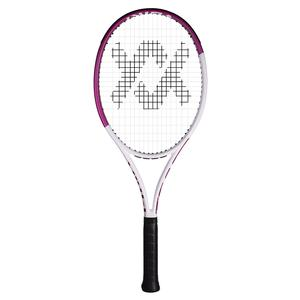 Team Speed White and Pink Prestrung Tennis Racquet