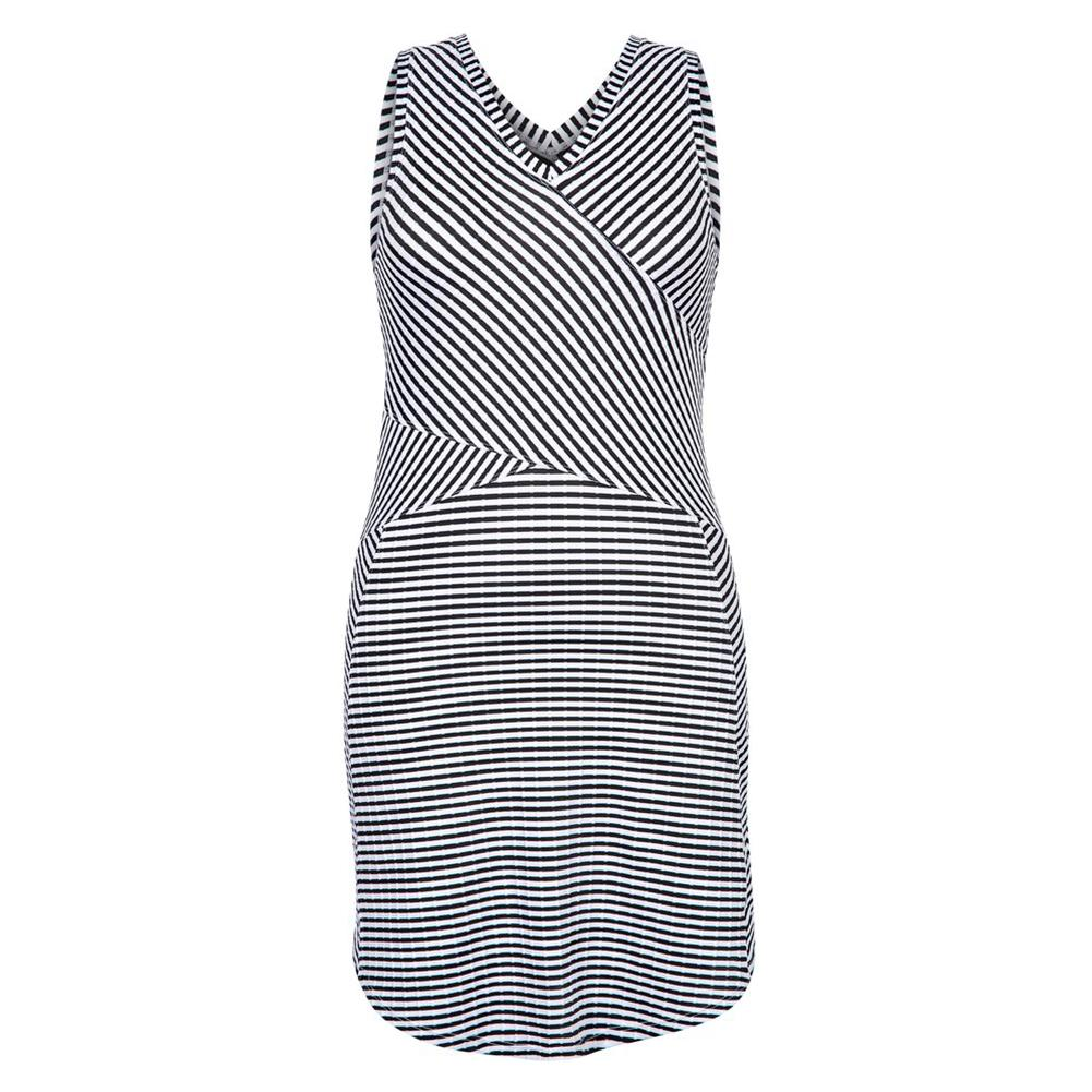 Women's Keyla Crossover Tennis Dress Stripe Jacquard