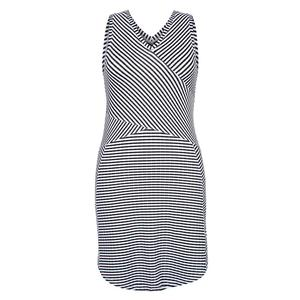 Women`s Keyla Crossover Tennis Dress Stripe Jacquard