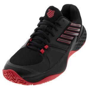 Men`s Aero Court Tennis Shoes Black and Lollipop