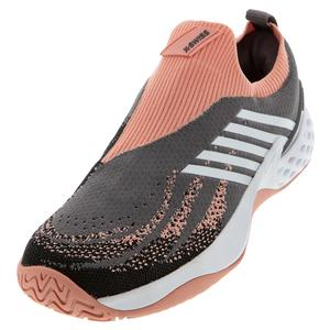 Women`s Aero Knit Tennis Shoes Plum Kitten and Coral Almond