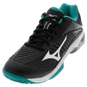 Men`s Wave Exceed Tour 3 AC Tennis Shoes Black and White