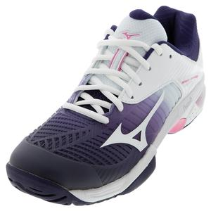 Women`s Wave Exceed Tour 3 AC Tennis Shoes Astral Aura and White