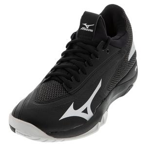 Men`s Wave Impulse AC Tennis Shoes Black and Silver