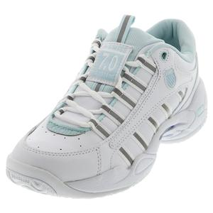 Women`s Ultrascendor Tennis Shoes White and Pastel Blue
