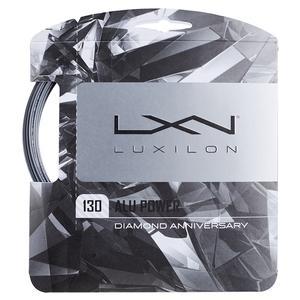Luxilon ALU Power 130 Diamond Anniversary Tennis String Silver at Tennis Express