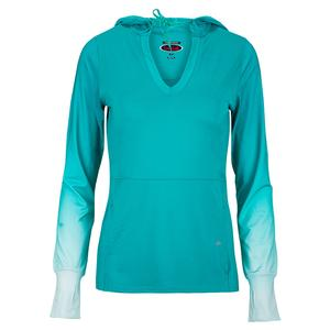 Women`s Mystic Hue Long Sleeve Tennis Top Jade