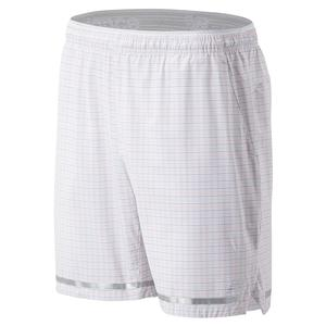 Men`s Tournament 7 Inch Tennis Short White Tattersall
