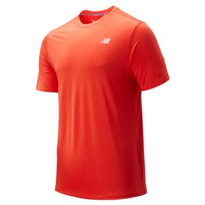 Men`s Rally Tennis Crew Solid Coral Glow