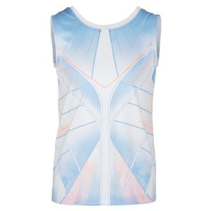 Girls` Astral Tie Back Tennis Tank White