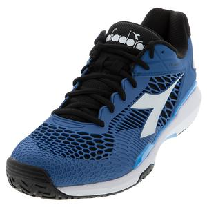 Men`s Speed Competition 5 AG Tennis Shoes Deep Water and White