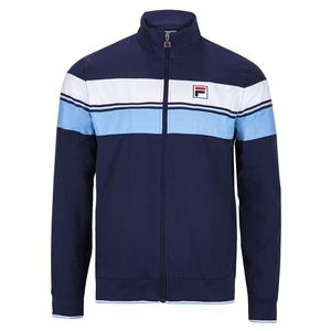 Men`s Legend Tennis Jacket Navy and Placid Blue