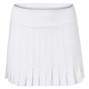 Women`s Awning Pleated 14.5 Inch Tennis Skort White