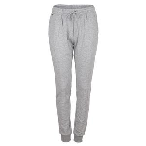 Women`s Fleece Drawstring Tennis Sweatpants Argent Chine