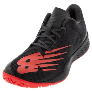 Men`s 896v3 D Width Tennis Shoes Black and Energy Red