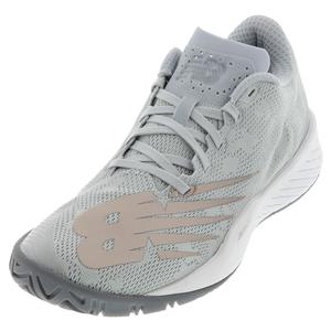 Women`s 896v3 B Width Tennis Shoes Grey and Champagne