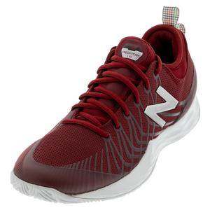 Men`s Fresh Foam LAV D Width Tennis Shoes Scarlet and White