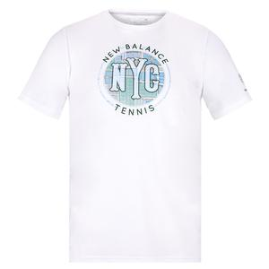 Men`s Court Graphic Tennis Tee White
