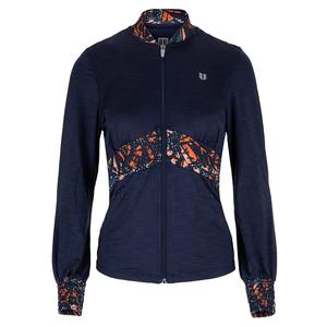Women`s Empire Blocked Tennis Jacket in Blue Nights