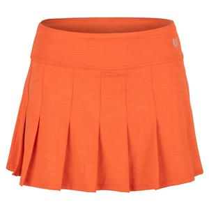 Women`s Flutter 13 Inch Tennis Skort in Orange