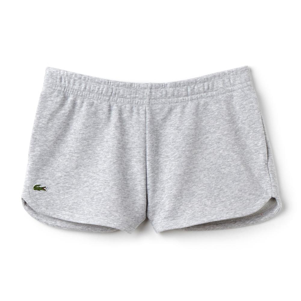Women's Fleece Drawstring Tennis Shorts Silver Chine