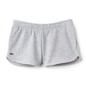 Women`s Fleece Drawstring Tennis Shorts Silver Chine