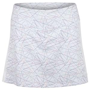 Women`s Rush Tennis Skort Geometry and White